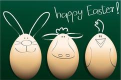 Wakacyjny tło z Wielkanocnymi dekoracjami royalty ilustracja