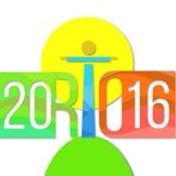 Wakacyjny tło olimpiiade w Rio De Janeiro 2016 Zdjęcie Stock