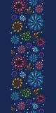 Wakacyjnych fajerwerków pionowo bezszwowy wzór Fotografia Royalty Free