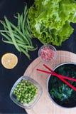 Wakame с сезонными зелеными цветами Стоковые Фотографии RF