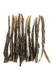 Wakame. Dried wakame on a white backround Stock Image