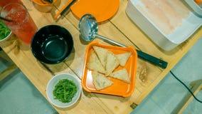 Wakame de Chuka o ensalada y queso de soja de la alga marina Imagenes de archivo