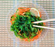 Wakame Salad With Chopsticks Stock Photo