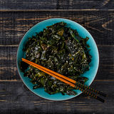 Wakame salad, raw seaweed, Japanese cuisine. Stock Photography