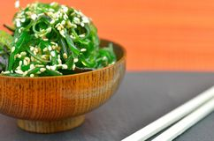 Wakame salad with sesame seeds Stock Photos