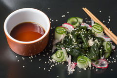 Wakame salad with sesame seeds Royalty Free Stock Images