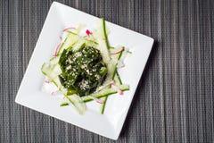 Wakame salad with sesame seeds Stock Image