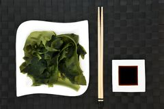 Wakame Seaweed Health Food Royalty Free Stock Images