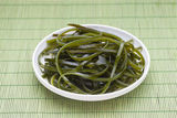 Wakame seaweed. Plate of wakame seaweed salad Royalty Free Stock Images
