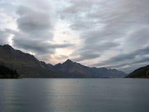 湖wakatipu 图库摄影