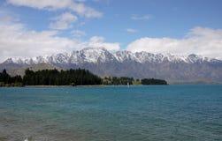 Wakatipu湖 免版税库存图片