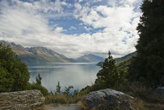 wakatipu d'horizontal de lac photo libre de droits