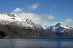 Wakatipu de lac - Nouvelle Zélande Image stock
