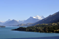 Wakatipu lake landscape in NZ. Stock Photography