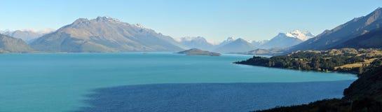 Wakatipu lake mountain landscape in NZ. Stock Photo