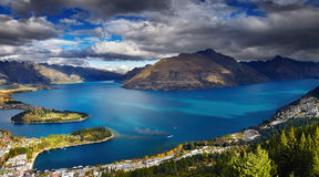 Wakatipu lake, New Zealand Royalty Free Stock Images