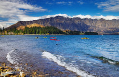 Wakatipu Lake, New Zealand Royalty Free Stock Photo