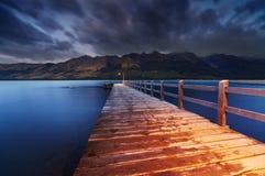 Wakatipu Lake, New Zealand stock images