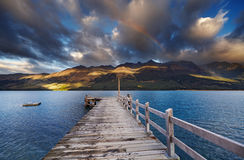 Wakatipu Lake, New Zealand Stock Photos