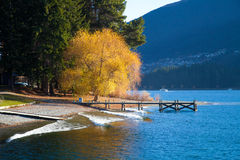 Wakatipu lake Queens town New Zealand Stock Image