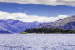 Wakatipu lake in Queenstown, New Zealand, South Island Stock Photos