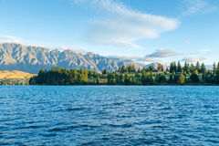 Wakatipu lake in Queenstown, New Zealand, South Island Royalty Free Stock Images