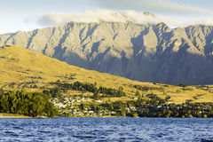 Wakatipu lake in Queenstown, New Zealand, South Island Royalty Free Stock Image