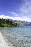 Wakatipu lake in Queenstown, New Zealand, South Island Stock Images