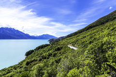 Wakatipu lake in Queenstown, New Zealand, South Island Stock Image