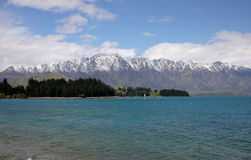 Wakatipu Lake. Queenstown,the Remarkables mountain new zealand Royalty Free Stock Image