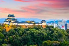 Wakayama Castle in Japan. Wakayama, Japan Castle and downtown cityscape Royalty Free Stock Photo