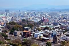 Wakayama cityscape in Japan Royalty Free Stock Photography