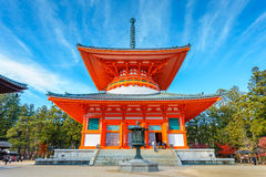 Wakayama, Japan - October 29 2014: Konpon Daito pagoda situated Royalty Free Stock Photography