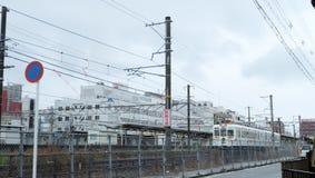 Wakayama Kishigawa Elektryczna Kolejowa linia Zdjęcie Stock