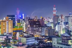 Wakayama, paesaggio urbano del Giappone Immagini Stock Libere da Diritti