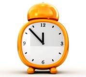 Wake. 3d image, Alarm orange on white background Stock Photography