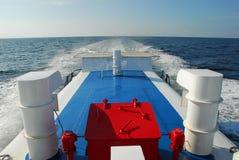 Wake. The wake of a cruise ship Stock Photography