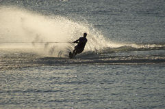 Wake board with spray Stock Photo