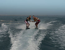 Wake boarders Royalty Free Stock Images