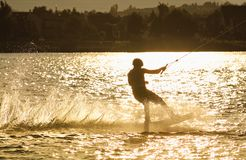 Wake-boarding Stock Photo