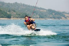 Wake boarding Royalty Free Stock Photos