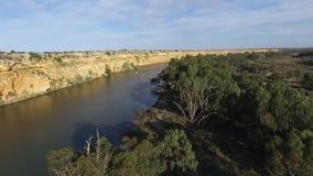 Wake Boarding at Big Bend on Murray River near Nildottie stock video footage