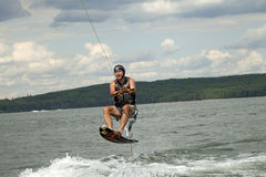 Wake boarding Royalty Free Stock Photo