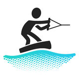 Wake boarding icon. Pictograms symbol Stock Images