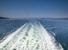 Wake from a boat  in Copenhagen denmark Stock Image