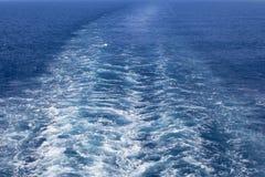 Wake Caused by Big Ship Stock Image