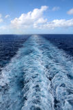 Wake From Cruise Ship royalty free stock image