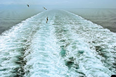 Wake From Cruise Ship Stock Image