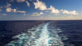 Wake of a Cruise Ship of the Coast of Kauai, Hawaii Stock Photos