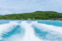 Wake by cruise ship Stock Image